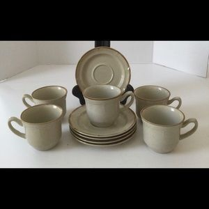 the Classic by Hearthside Stoneware  cups/saucers…